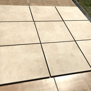 Porcelain Paving Slabs, Beige Cement 600x600x20mm £27.29/m2
