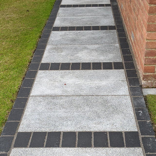 Kadapha Block Paving, Black Limestone Setts & Cobbles 200x100x50 £39.89/m2