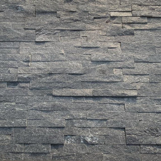 Split Face Tiles, Black Sparkle Quartz Stone Cladding 360x100 £26.99/m2