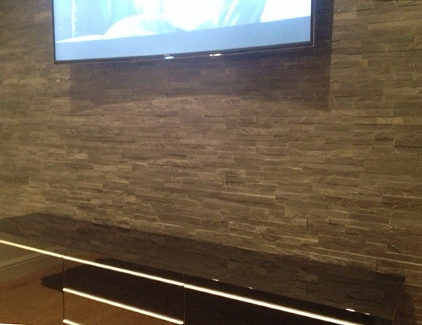 Stone Cladding, Wall Cladding, Black Slate Cladding 360x100 £25.19/m2