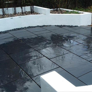 China Slate Paving Slabs, Midnight Black Slate 600 Patio Packs