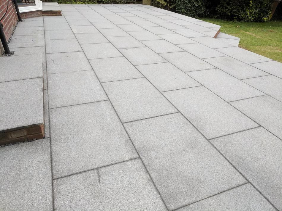 Blue Grey Granite Paving Slabs, Mid Grey 900 x 600 £31.19/m2