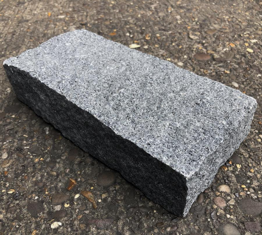 Granite Cobbles Setts Cropped, Blue Grey Mid Grey 200 x 100 x 50mm £48.69/m2