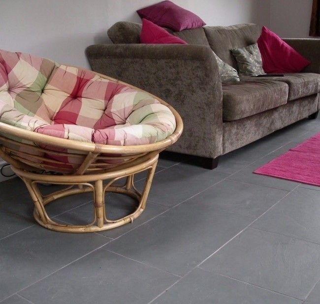 Grey Slate Floor Tiles, Brazilian Slate 600x400