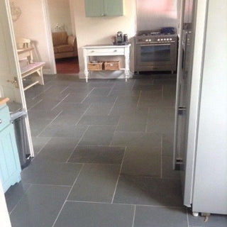 Grey Slate Floor Tiles - Brazilian Slate - 600x400