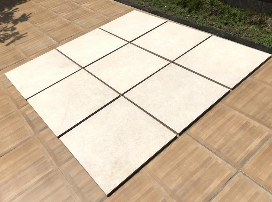 Porcelain Paving, Cream Monolith 900x600x20mm £26.99/m2