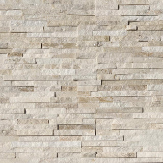 Stone Cladding, Cream Sparkle Quartz, Split Face Tiles 600x150 £25.39/m2