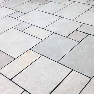 Dove Grey Limestone Paving Patio Packs, Sawn Edge 22 calibrated £16.99/m2