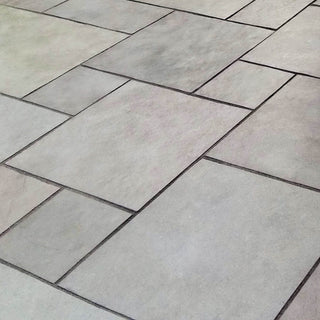 Kurnool Grey Limestone Paving, Dove Grey Sawn Edge 600x600 22mm Cal. £21.89/m2