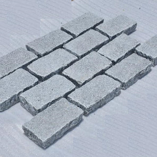Block Paving, Grey Limestone Setts, Edging & Borders 200x100x50 £43.49/m2
