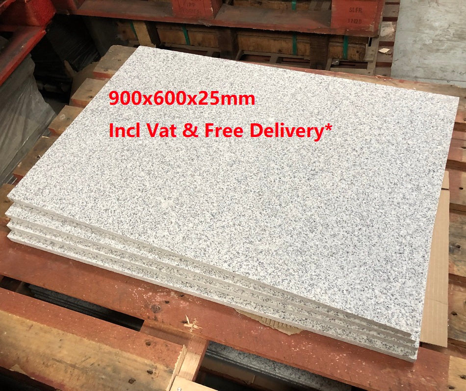 Glacier Ice Granite Paving, Silver Grey 900 x 600 x 25mm £29.59/m2