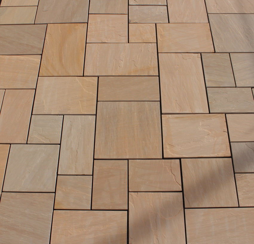 Brown Sandstone, Autumn Brown Indian Paving, Patio Packs 22mm Cal. £21.00/m2