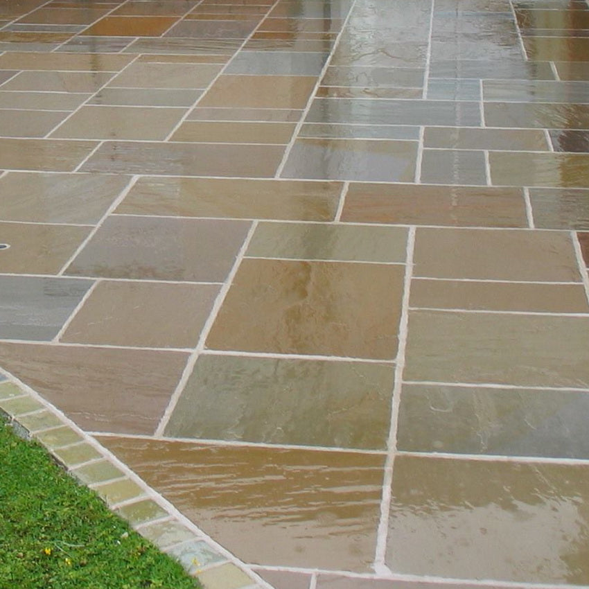 Paving Slabs Indian SandstoneRaj Green4 Slab Sizes to Choose From