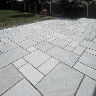 Kandla Grey Indian Sandstone Paving Slabs Patio Packs 22mm Cal. £27.51/m2