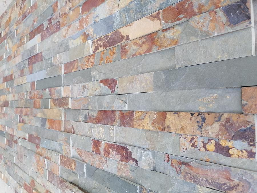 Split Face Tiles, Multicolor Slate Wall Cladding Panels 550x150 £22.18/m2