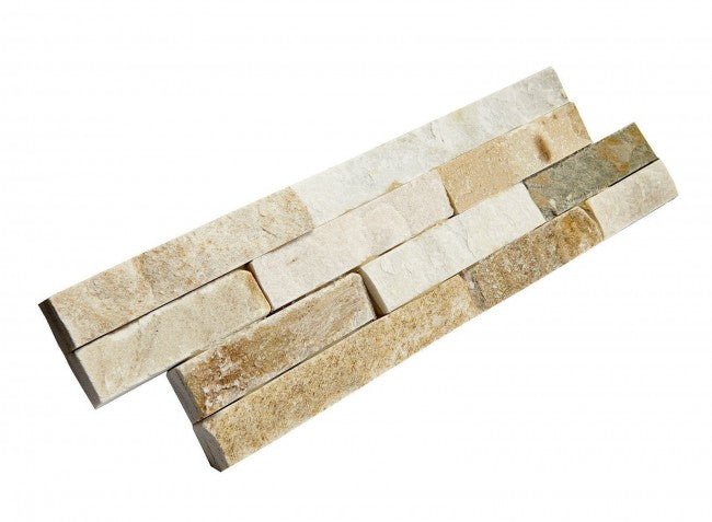 Stone Wall Cladding, Oyster Quartz, Split Face Tiles, 360x100