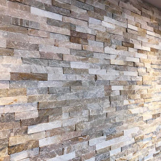 Split Face Tiles, Wall Cladding, Oyster Quartz Cladding 550x150 £23.99/m2