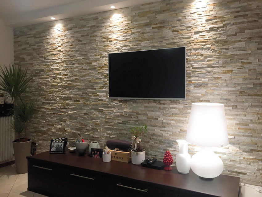 Stone Cladding - Oyster Quartz Wall Cladding - 360x100
