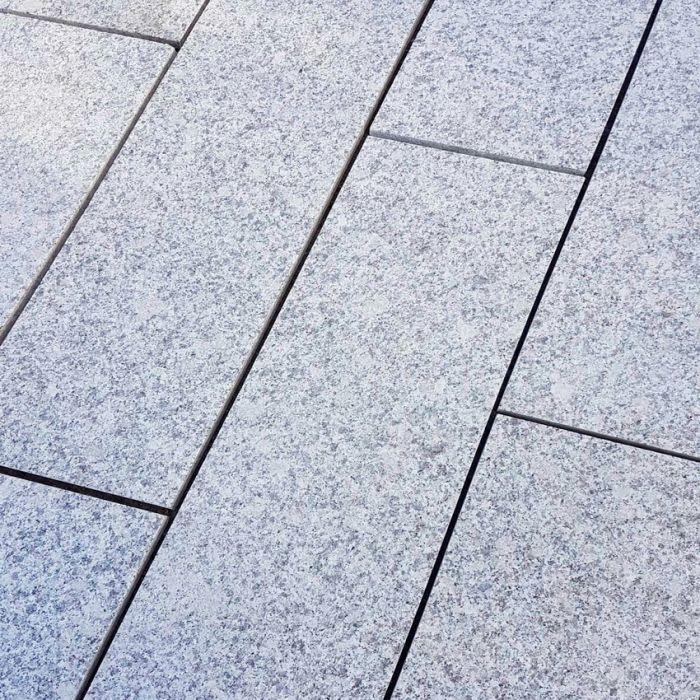 Silver Grey Granite Plank Paving Linear Light Grey 900 x 200 £23.24/m2