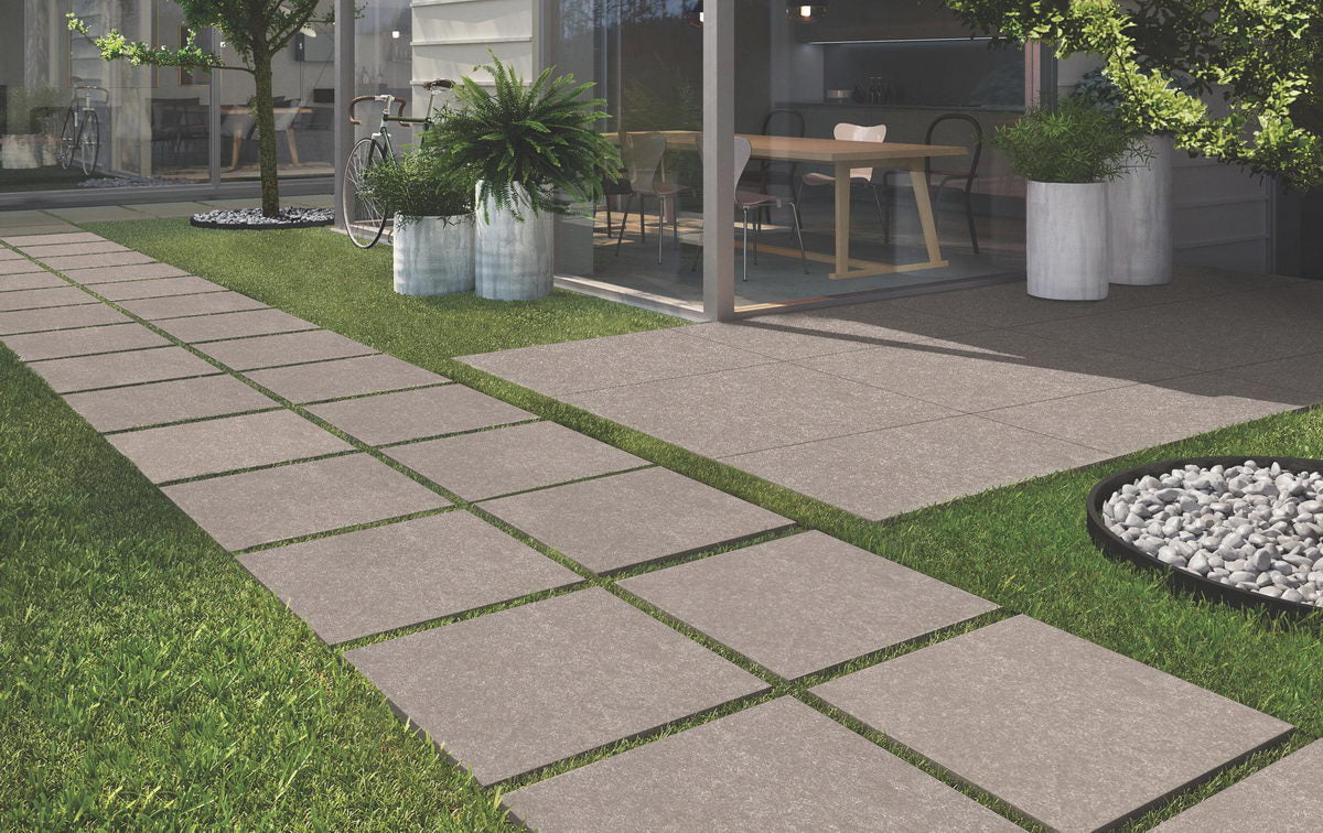 Vitrified Porcelain Paving, Bluestone Gris 900x600x20mm £26.99/m2