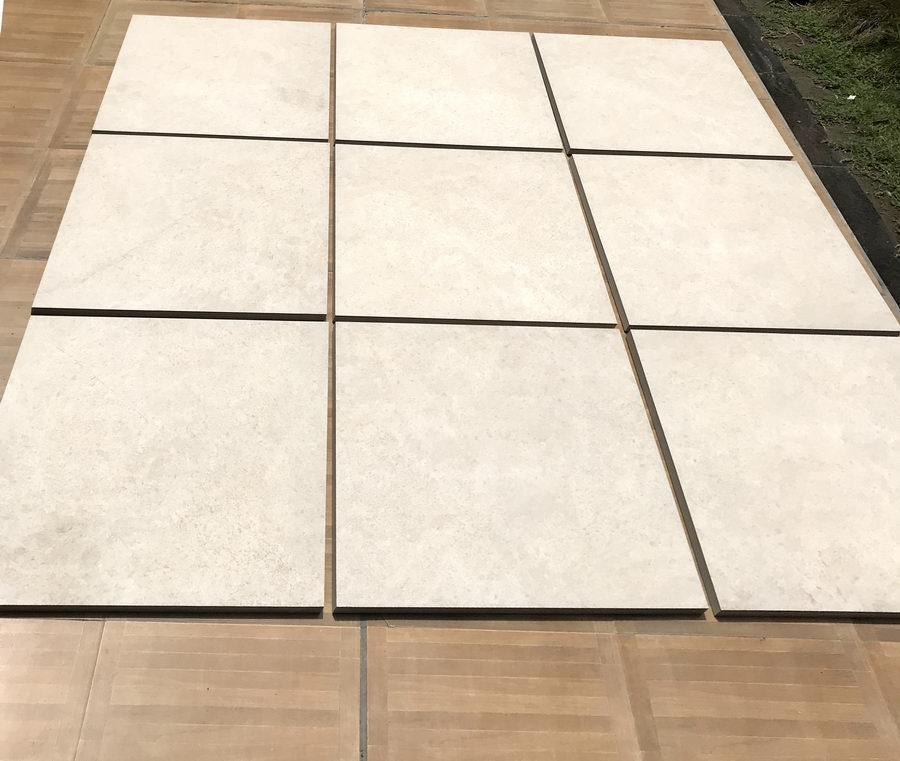 Porcelain Paving, Cream Monolith 600x600x20mm £23.99/m2