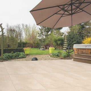 Porcelain Paving, Hammer Beige Slabs 900x600x20mm £25.99/m2
