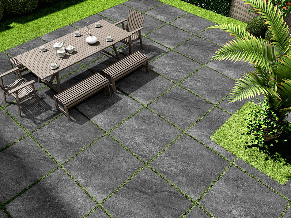 Porcelain Paving, Hammer Nero Black 600x600x20mm £24.99/m2