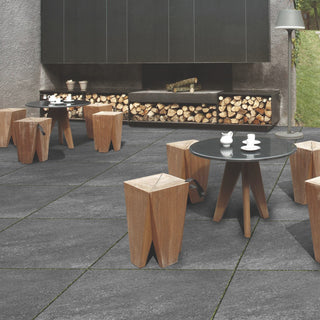 Porcelain Paving, Hammer Nero Black 900x600x20mm £26.99/m2