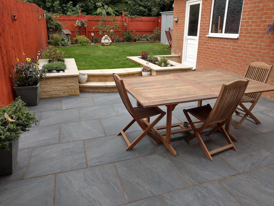 Porcelain Paving Slabs, Anthracite Black 600x600x20mm £24.99/m2