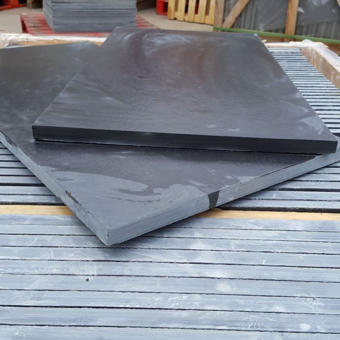 Slate Patio Slabs >> Black Slate Paving Slabs Brazilian Slate For Patio Paving 600 X 400