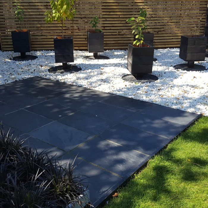 Black Slate Paving Slabs, Brazilian Slate for Patio Paving 600 x 600