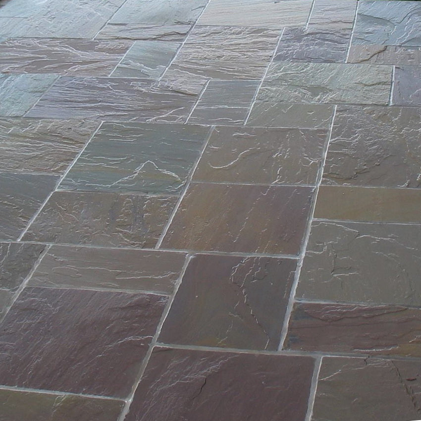 Raj Green Indian Sandstone Paving Slabs 22mm Calibrated - 900x600 £18.54/m2