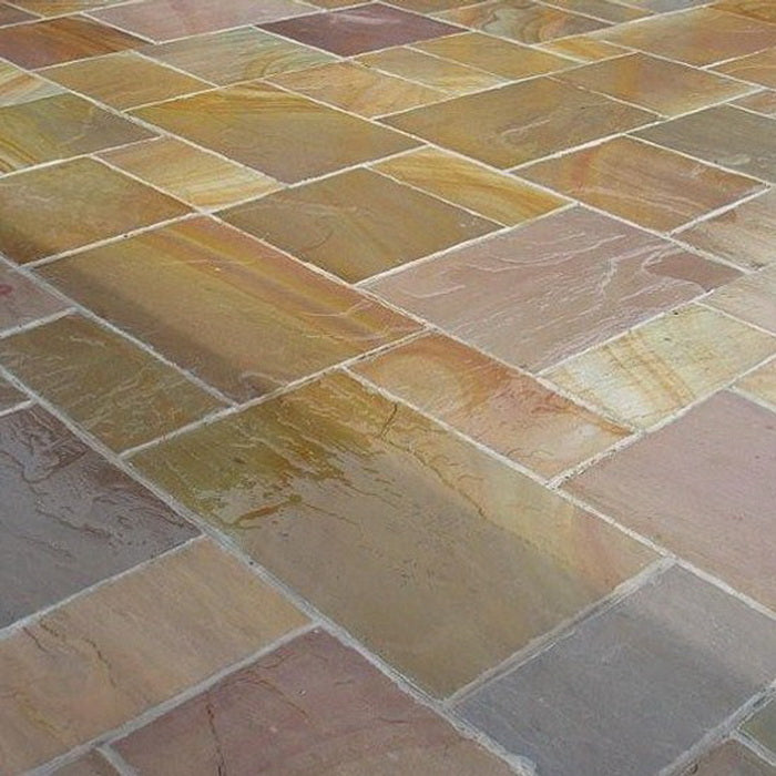 Rippon Buff Indian Sandstone Paving Slabs Patio Packs, 22mm Calibrated £18.79/m2