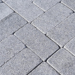 Tumbled Granite Setts, Paving Edging, Blue Black Cobbles 200x100x30mm £41.89/m2