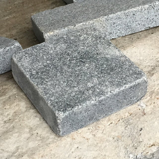 Tumbled Granite Setts, Paving Edging, Blue Black Cobbles 100x100x30mm £41.83/m2