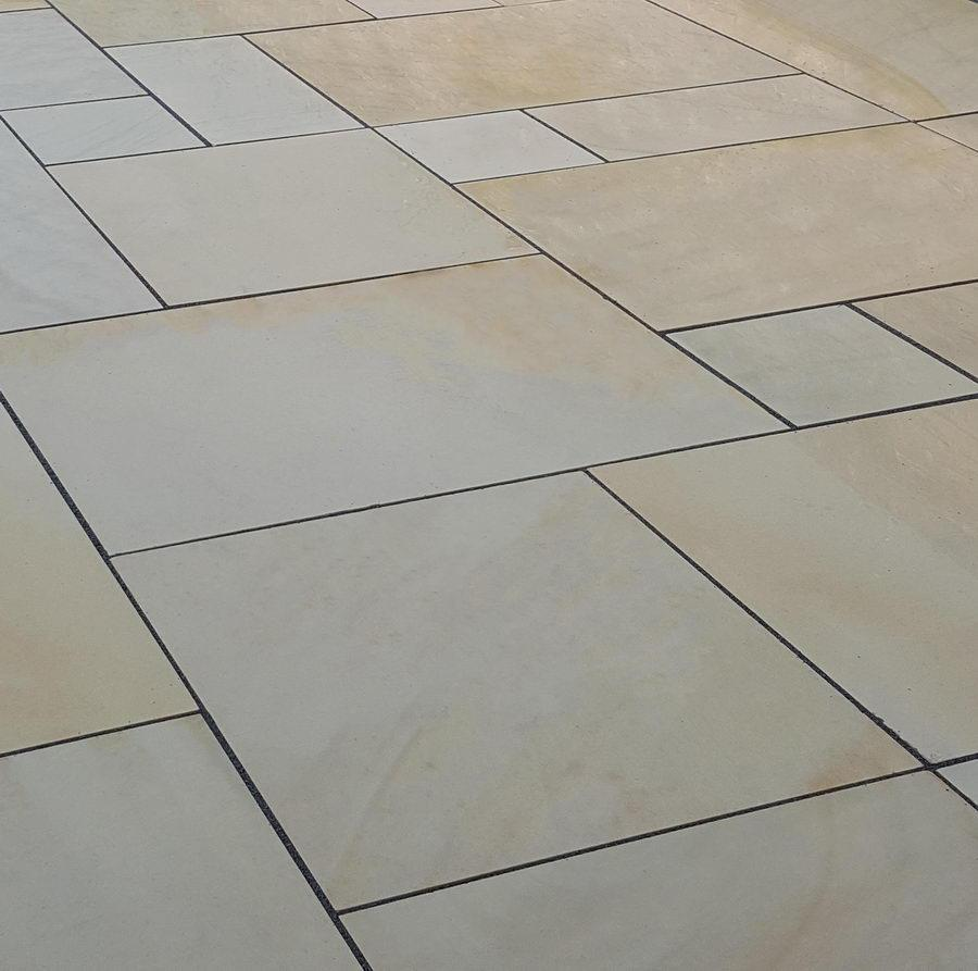 Smooth Sandstone Paving, Fossil Mint Sawn & Honed, Patio Packs £24.87/m2