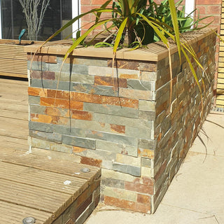 Split Face Tiles, Multicolor Slate Wall Cladding Panels 550x150 £26.99/m2
