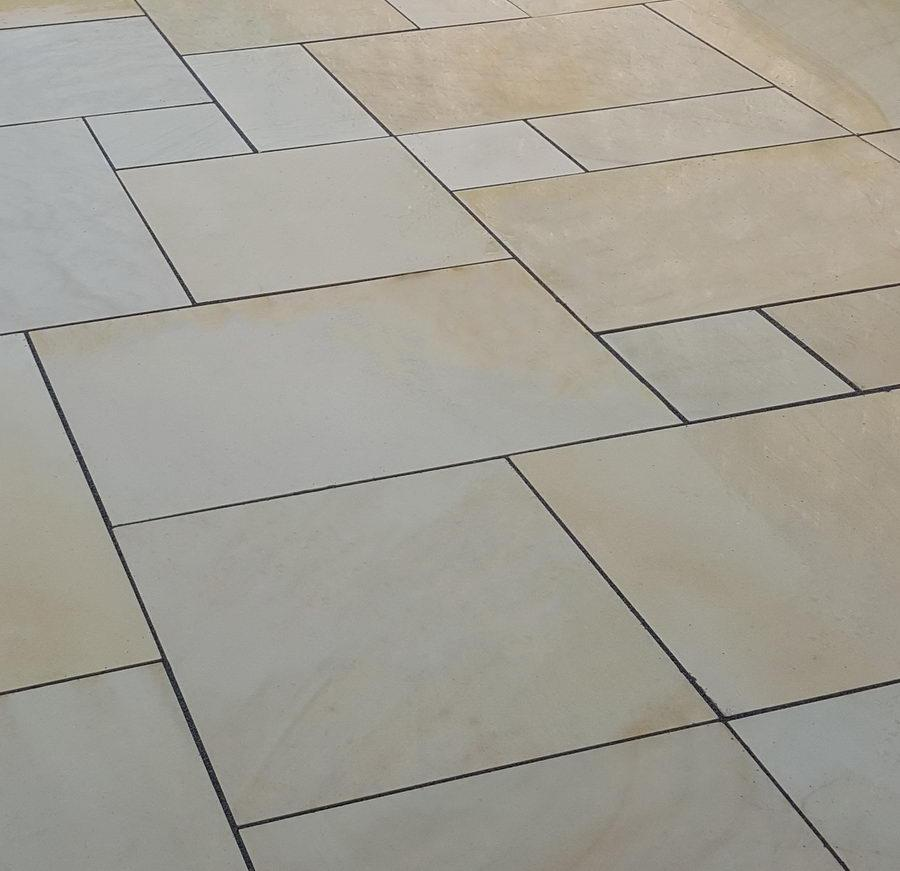 Mint Fossil Sandstone Paving, Smooth Honed, Sawn, 600x600 £24.89/m2