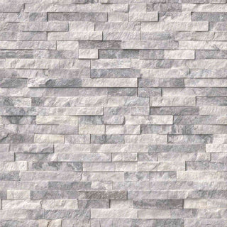 Sparkle Ice Grey Quartz Split Face Mosaic Tiles 550x150 £27.89/m2