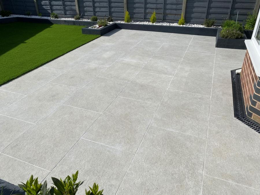 Porcelain Paving, Ash Monolith 900x600x20mm £26.99/m2