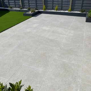 Porcelain Paving, Ash Monolith 900x600x20mm £28.99/m2