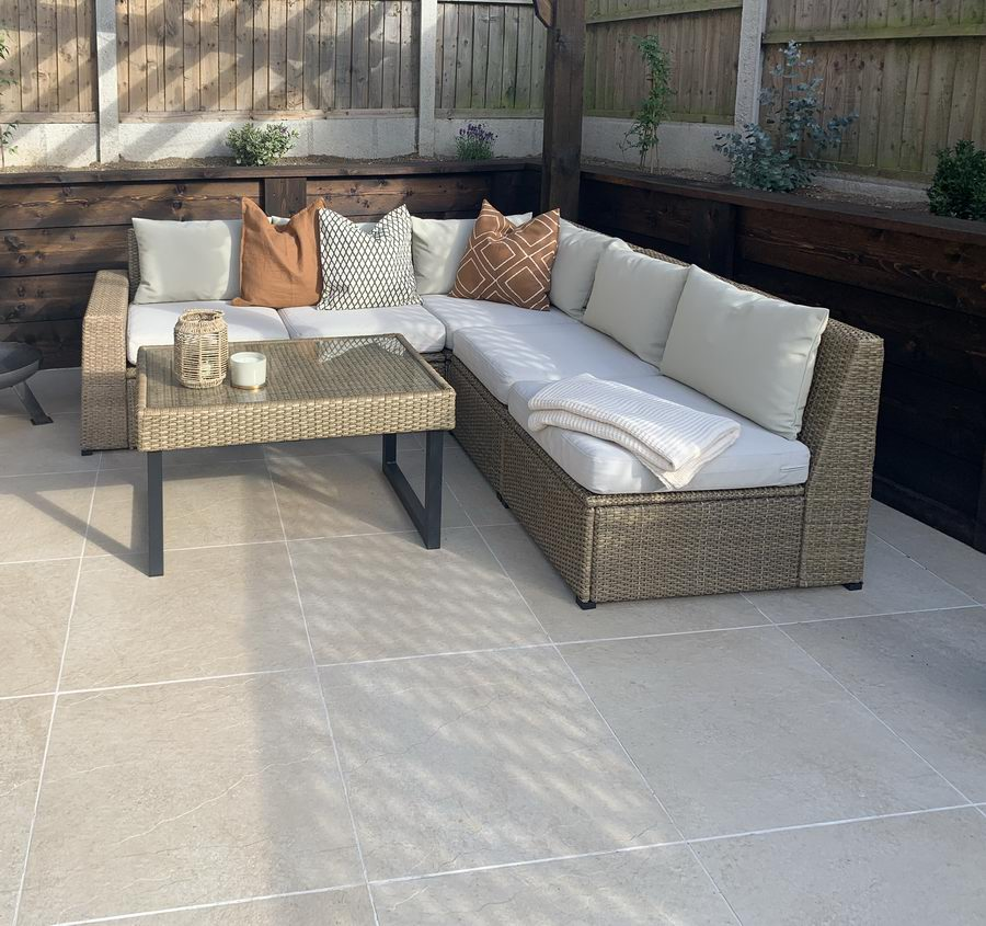 Porcelain Paving, Hammer Beige Slabs 600x600x20mm, £24.99/m2