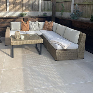 Porcelain Paving, Hammer Beige Vitrified Slabs 600x600x20mm, £24.99/m2