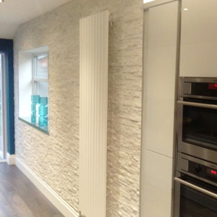 Stone Cladding - White Quartz Wall Cladding - 360x100