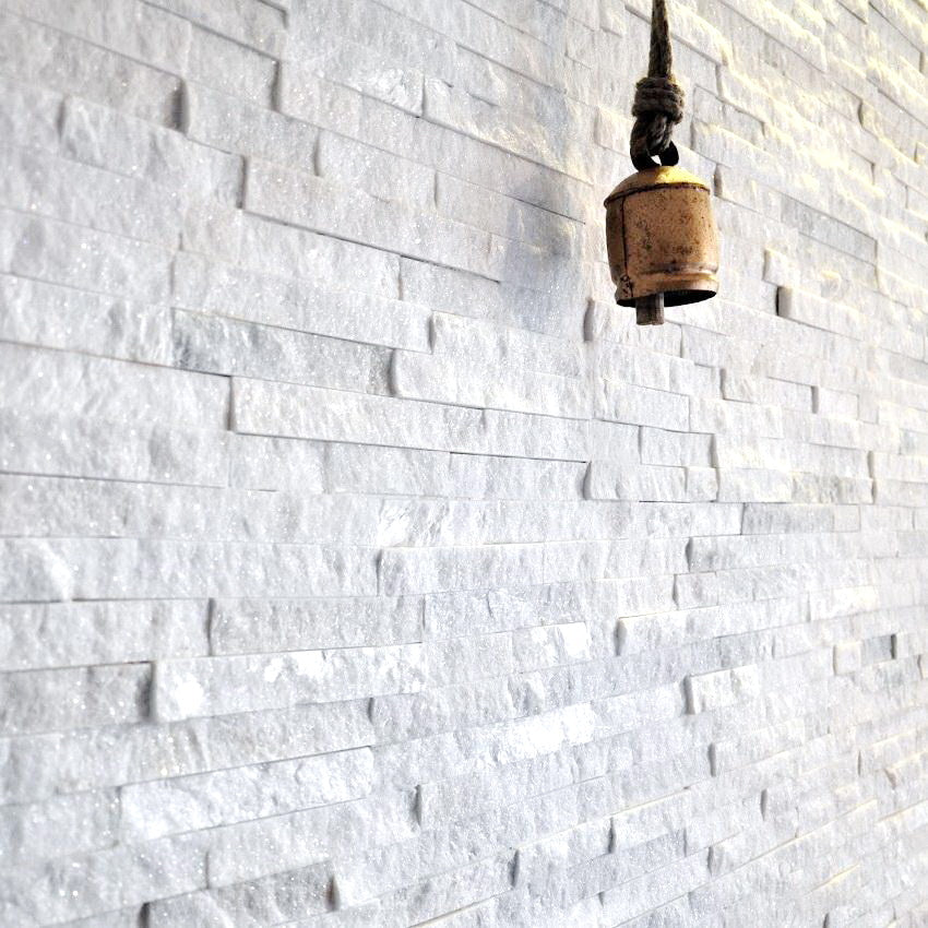 Stone Cladding, Wall Cladding, White Quartz Cladding 360x100 £24.49/m2