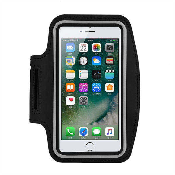 Powstro universal 5.5inch Smart Phone Running Sport Armband For iPhone 7 6S 6 Plus 5 5S SE Samsung Galaxy S8 Waterproof Bag Case