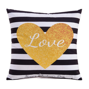 Letter Printed Decorative Home  Products Chair Pillow Case For Home