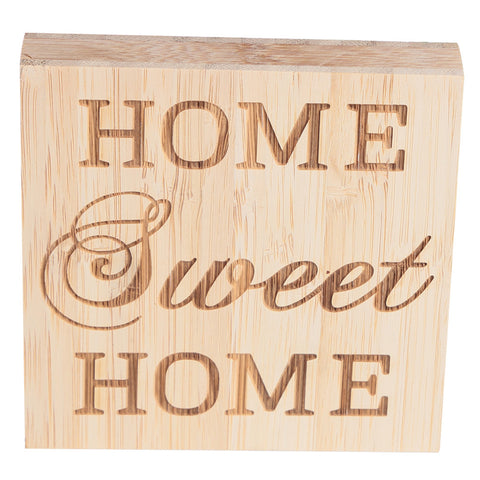 HOME SWEET HOME Block Sign Plaque Decorative Words Block Sign for Home Office Party Decoration