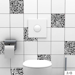 Texture Wall Tile Sticker 3D Wall Sticker Self Adhesive PVC Waterproof Kitchen Wall Stickers Home Decoration