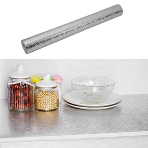 40*100cm Aluminum Foil Self Adhesive Waterproof Mildew Proof Sticker for Kitchen DIY Home Decorate Wallpaper
